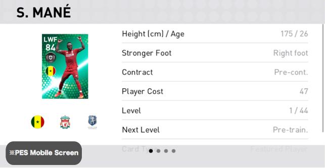 FP Sadio Mané Player Details