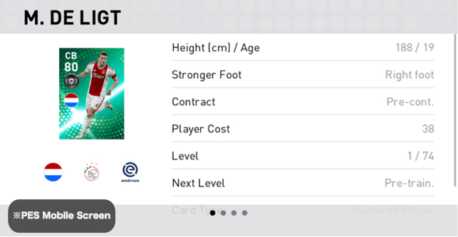 FP M. DE LIGT Player Details