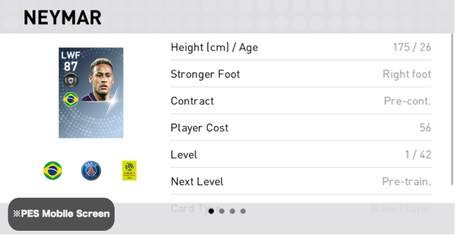 Neymar Player Detail