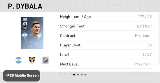 Paulo Dybala Player Detail