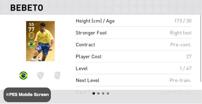 (Legend) Bebeto Player Details