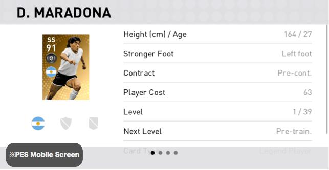 Diego Maradona Player Detail
