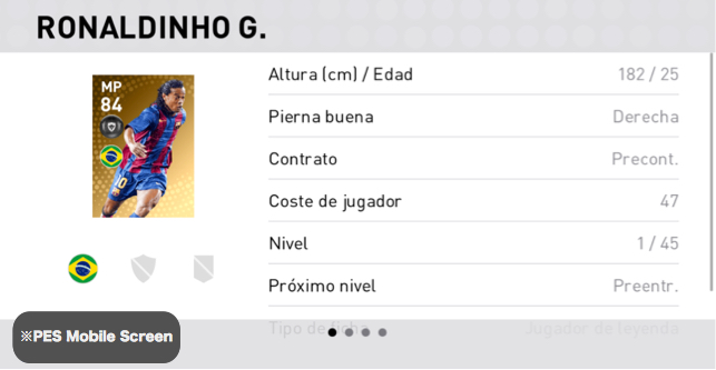 Ronaldinho Detalles