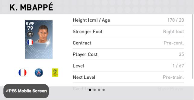 Kylian Mbappé Player Detail
