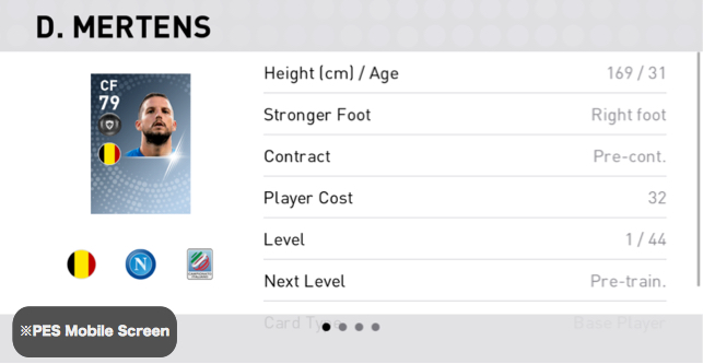 Dries Mertens Player Detail